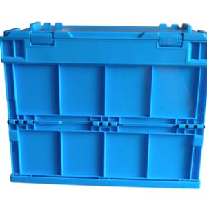 folding plastic storage crate